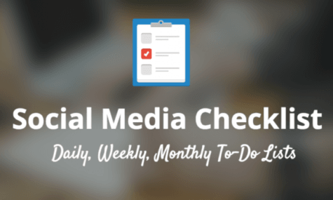 social media checklist article