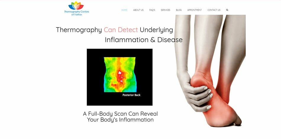 Thermography Centers of Fairfax website