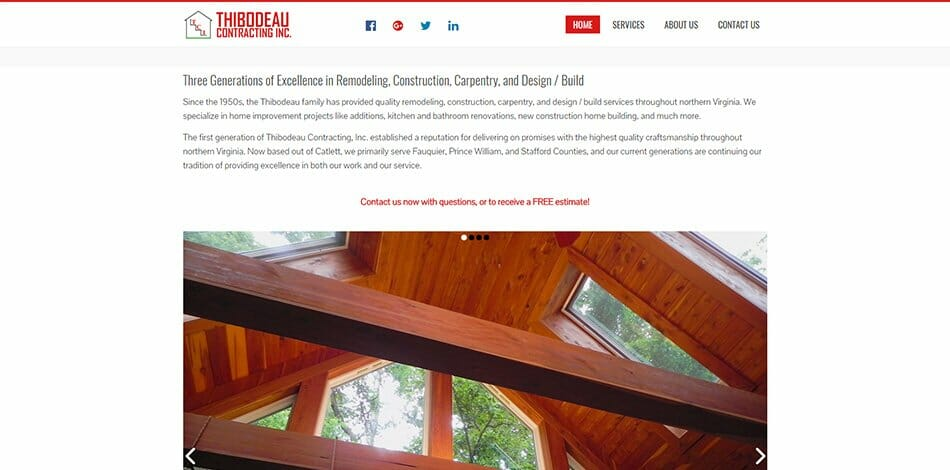 Thibodeau Contracting, Inc. website