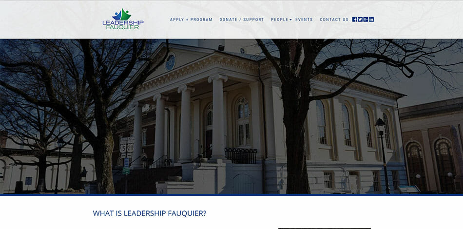 Leadership Fauquier is a community based organization which fosters collaboration from Private, Public and Nonprofit sectors of Fauquier County.