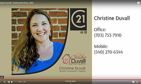 Audio & Video Production, Talk19Media, Christine Duvall: Testimonial from John, Realtor with Century 21 New Millennium